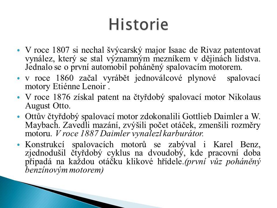 V roce 1807 si nechal švýcarský major Isaac de Rivaz patentovat vynález, který se stal významným mezníkem v dějinách lidstva.