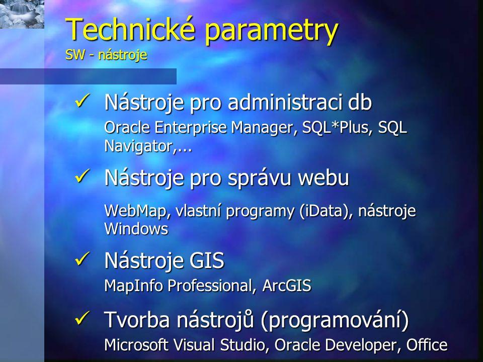 Nástroje pro administraci db Nástroje pro administraci db Oracle Enterprise Manager, SQL*Plus, SQL Navigator,...