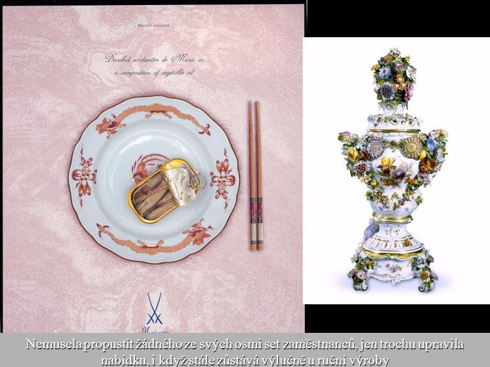 26 Krize v oboru i v celé ekonomice, která loni málem položila jinou tradiční německou porcelánku Rosenthal, míšeňskou manufakturu neohrozila