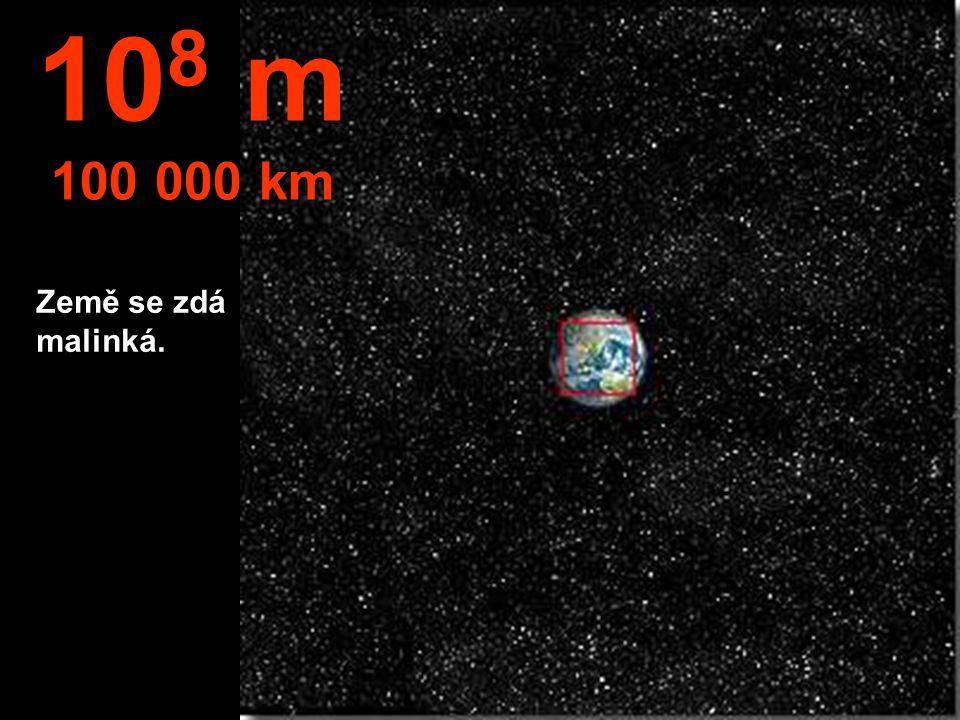 Severní hemisféra Země a část Jižní Ameriky. 10 7 m 10.000 km