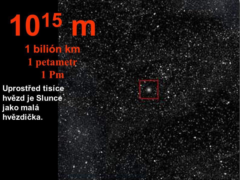 10 14 m 100 miliard km 100 Tm Celá sluneční soustava se zdá být malou.