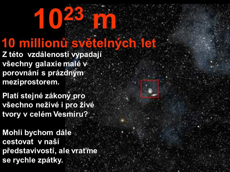 Z této nesmírné vzdálenosti bychom mohli vidět celou Mléčnou dráhu i sousední galaxie.