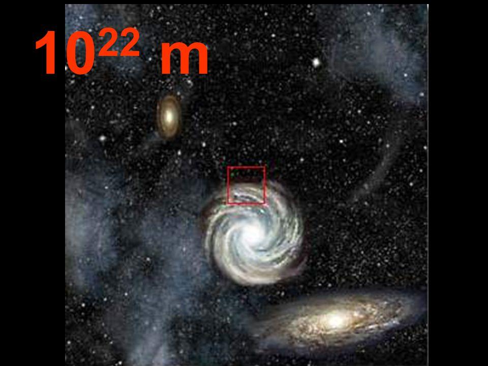 Z této vzdálenosti vypadají všechny galaxie malé v porovnání s prázdným meziprostorem.