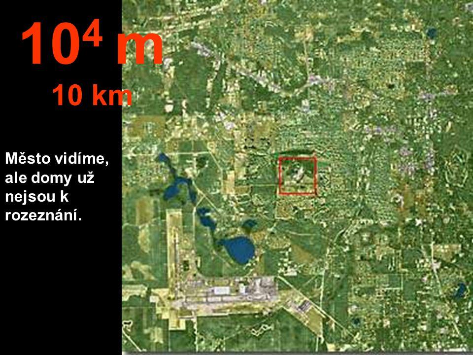 Teď zaměníme metry za kilometry. Z této výšky je už možné skočit padákem. 10 3 m 1 km