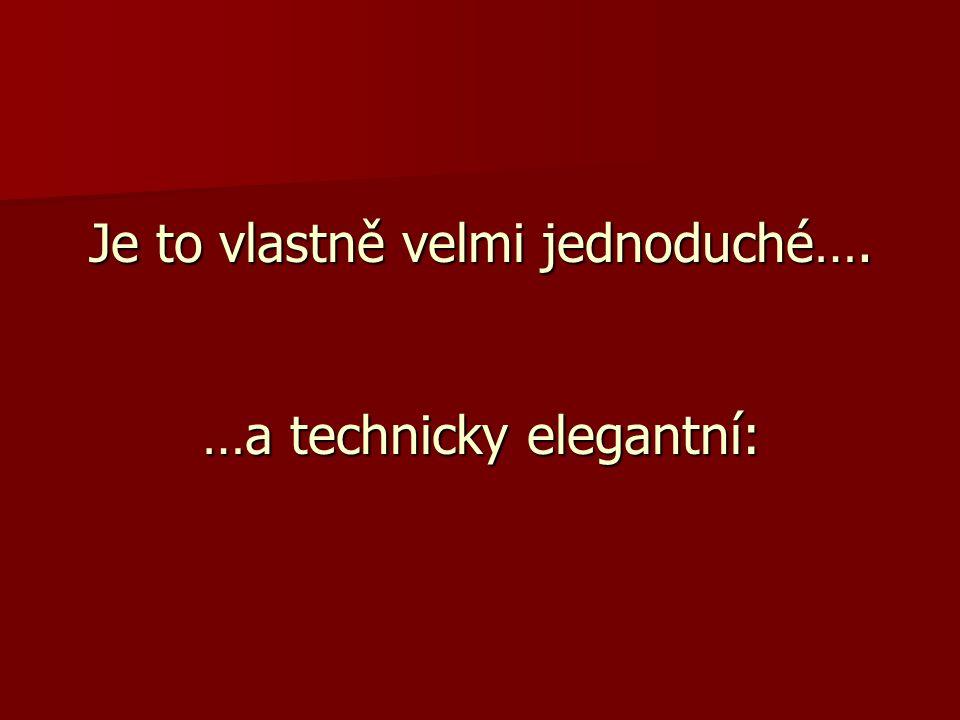 Je to vlastně velmi jednoduché…. …a technicky elegantní: