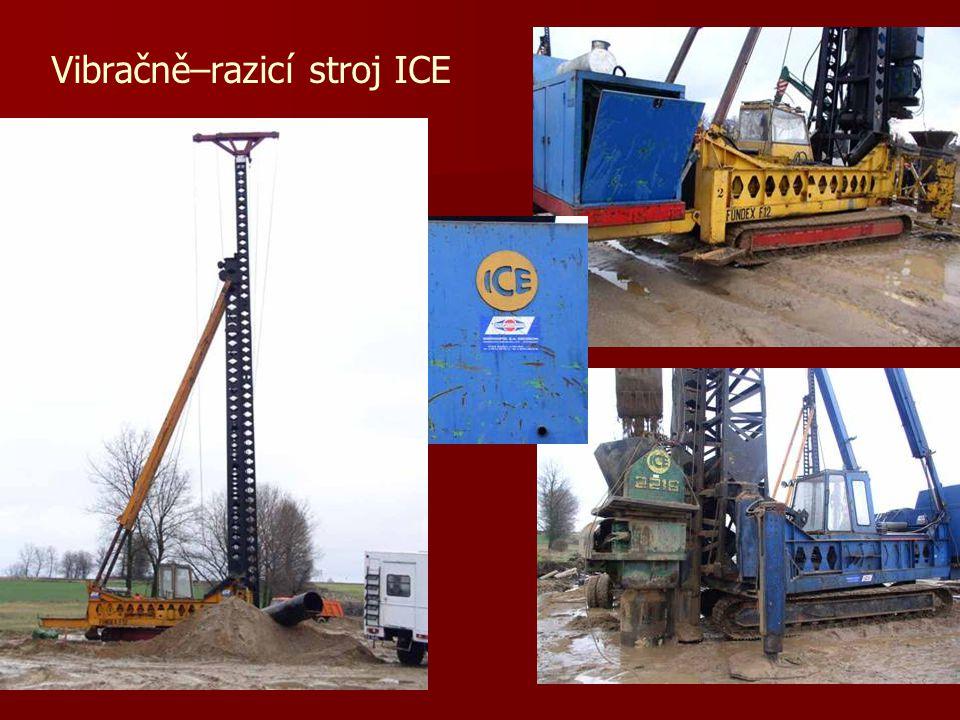 Vibračně–razicí stroj ICE