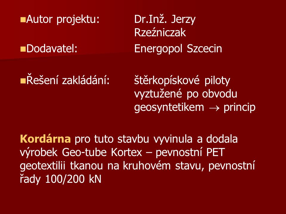 Autor projektu:Dr.Inž.