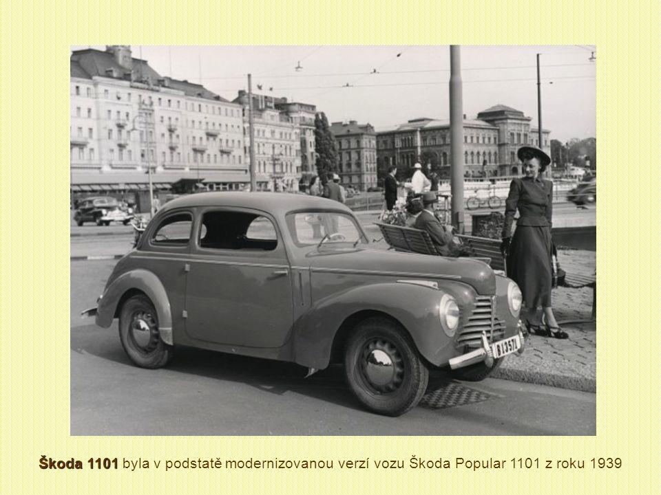Škoda 1101 STW Škoda 1101 STW (1951 – 1952) Celkem vyrobeno 1102 kusy Obdobná provedení STW vznikla v různých karosárnách, lišila se však nejvíce skla