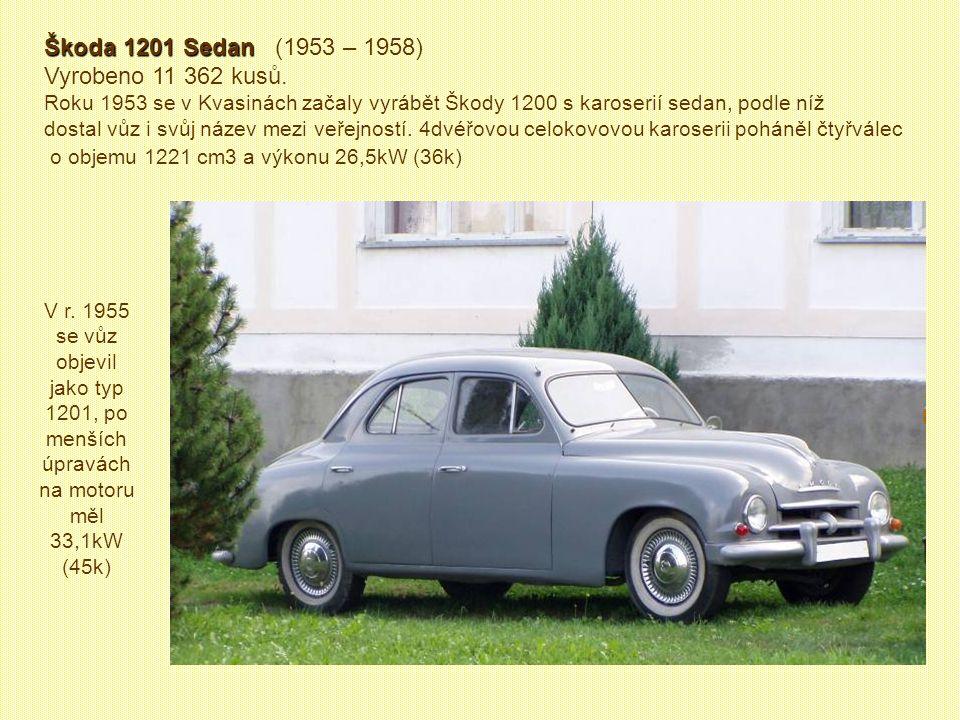 Škoda 1101 Škoda 1101 byla v podstatě modernizovanou verzí vozu Škoda Popular 1101 z roku 1939
