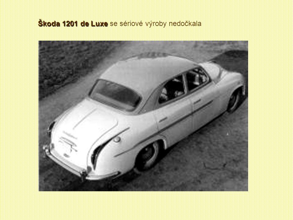 Škoda 1200 sanitní Škoda 1200 sanitní (1952 – 1956) Celkem vyrobeno 1945 kusů Sanita měla se sedanem shodnou přední část, která se do Kvasin dovážela