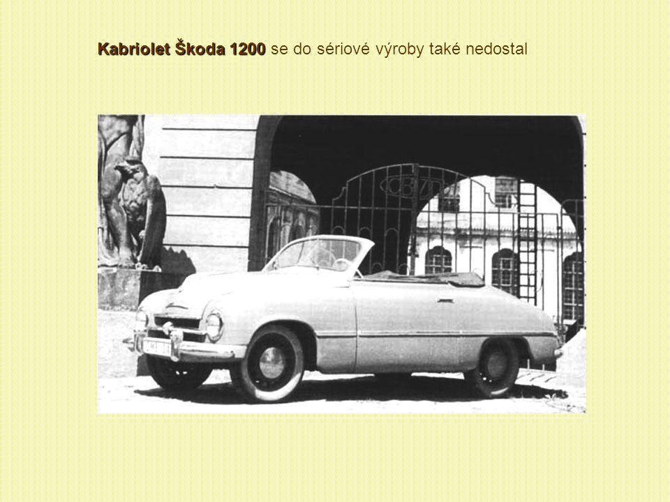 Škoda 1201 de Luxe Škoda 1201 de Luxe se sériové výroby nedočkala