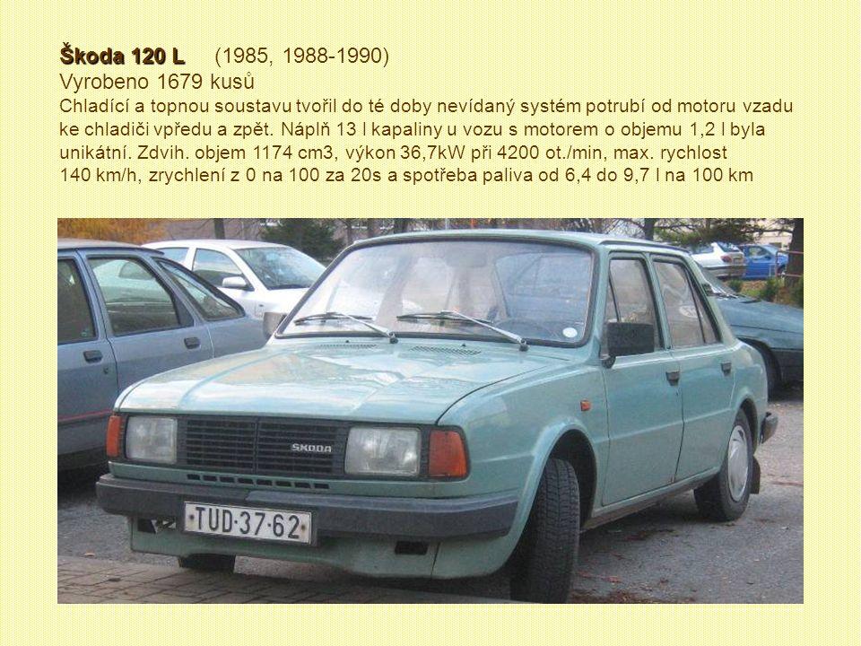 Škoda Garde Škoda Garde (1981 – 1985) Vyrobeno 8238 kusů Od r.1981 se vyráběla Škoda i jako dvoudveřové kupé Garde, později přejmenovaná na Škoda Rapi