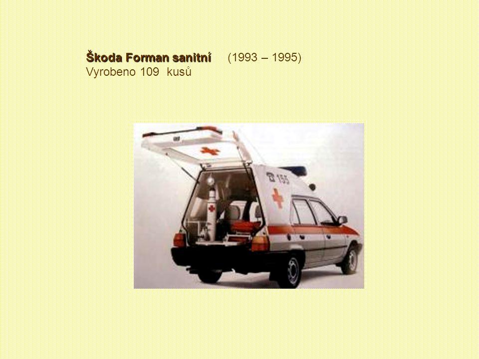Škoda Forman Praktik Škoda Forman Praktik (1993 – 1994) Vyrobeno 1340 kusů