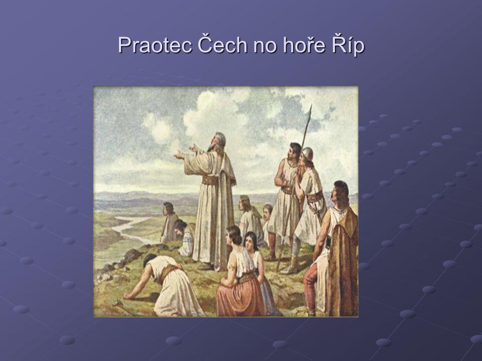 Praotec Čech no hoře Říp