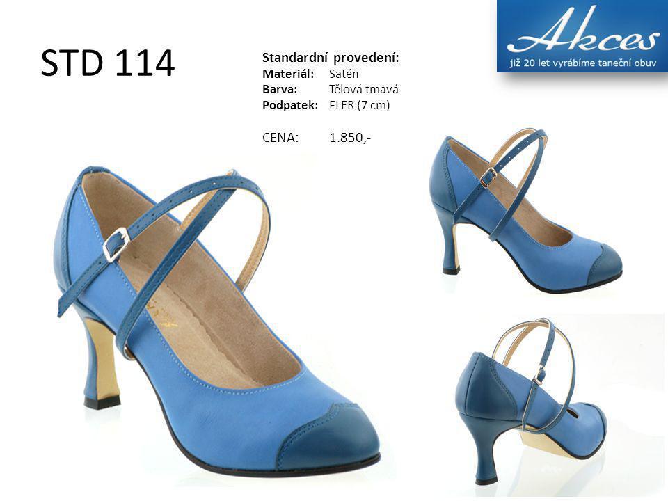 STD 114 Standardní provedení: Materiál:Satén Barva:Tělová tmavá Podpatek:FLER (7 cm) CENA:1.850,-