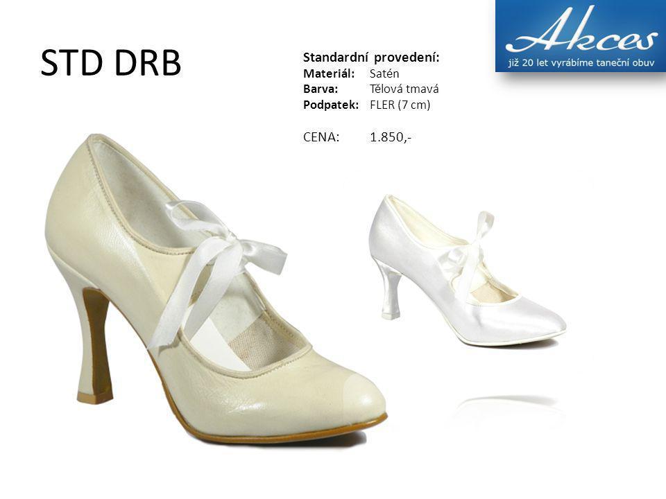 STD V, STD V03 Standardní provedení: Materiál:Satén Barva:Tělová tmavá Podpatek:FLER (7 cm) CENA:1.690,- MODEL: STD V03