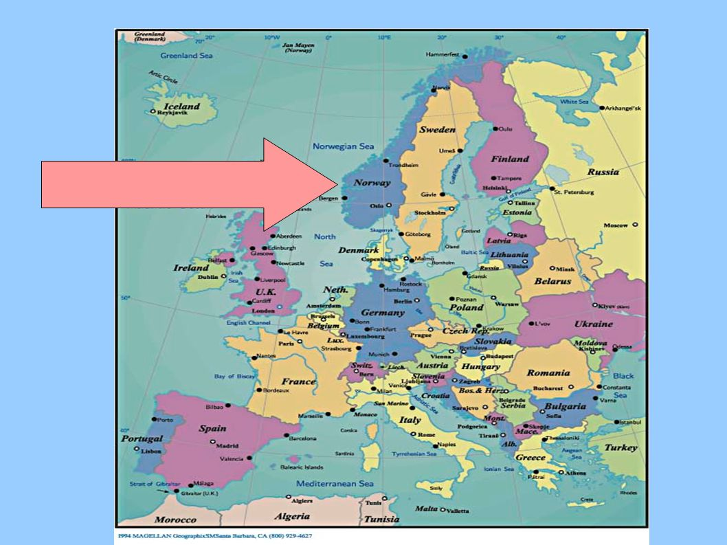 POLOHA Severní Evropa Skandinávský poloostrov Za polárním kruhem