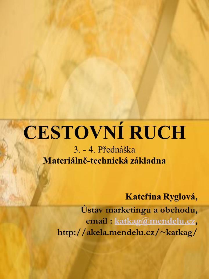 CESTOVNÍ RUCH 3. - 4. Přednáška Materiálně-technická základna Kateřina Ryglová, Ústav marketingu a obchodu, email : katkag@mendelu.cz, http://akela.me
