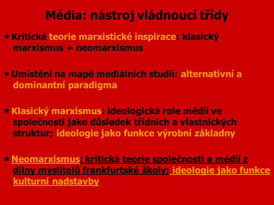 """Klasický marxismus: základní pojmy  Historický materialismus: materialistické vysvětlení logiky dějin, """"dějiny jsou dějinami třídních bojů""""  Periodi"""