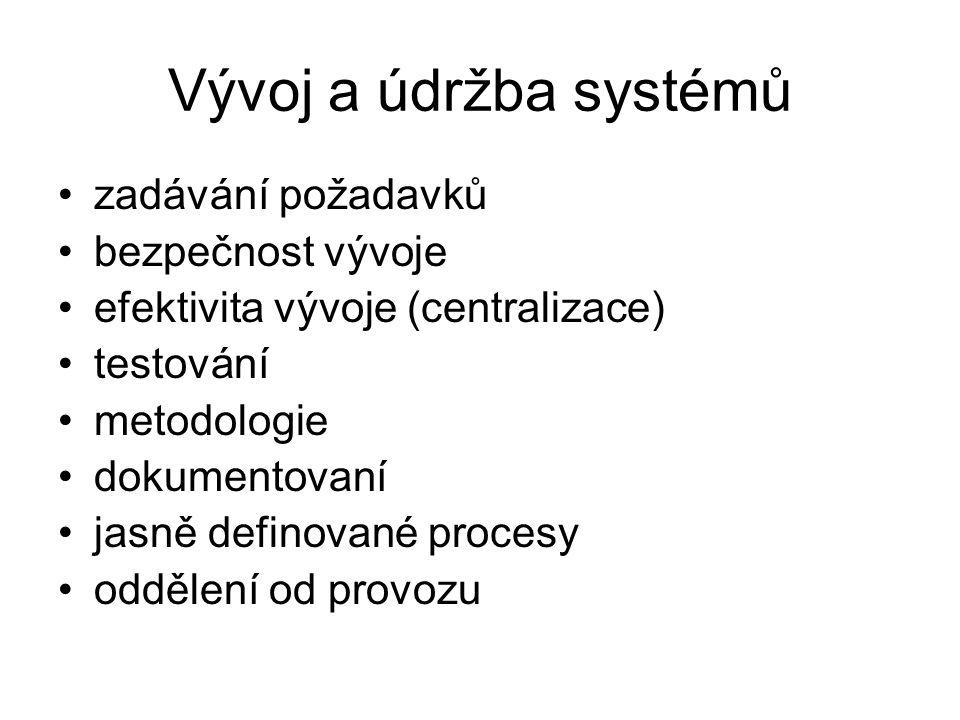Monitorování používání systému vznikají systémové a auditní logy –u klíčových systémů logy jsou vyhodnocovány –proaktivně (nestandardní záznamy) zabez