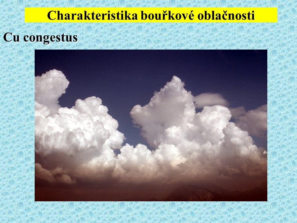 Charakteristika bouřkové oblačnosti Cu congestus