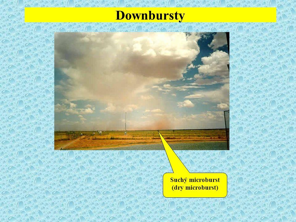Downbursty Suchý microburst (dry microburst)