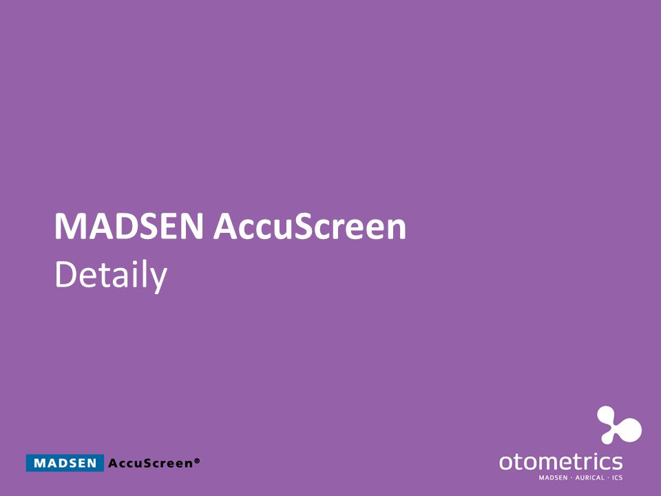 MADSEN AccuScreen Detaily