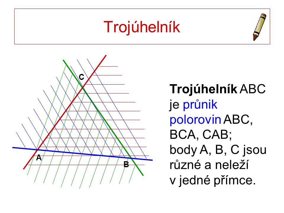 Střední příčka trojúhelníku BA C