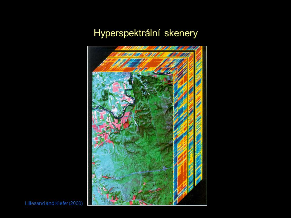 Lillesand and Kiefer (2000) Hyperspektrální skenery