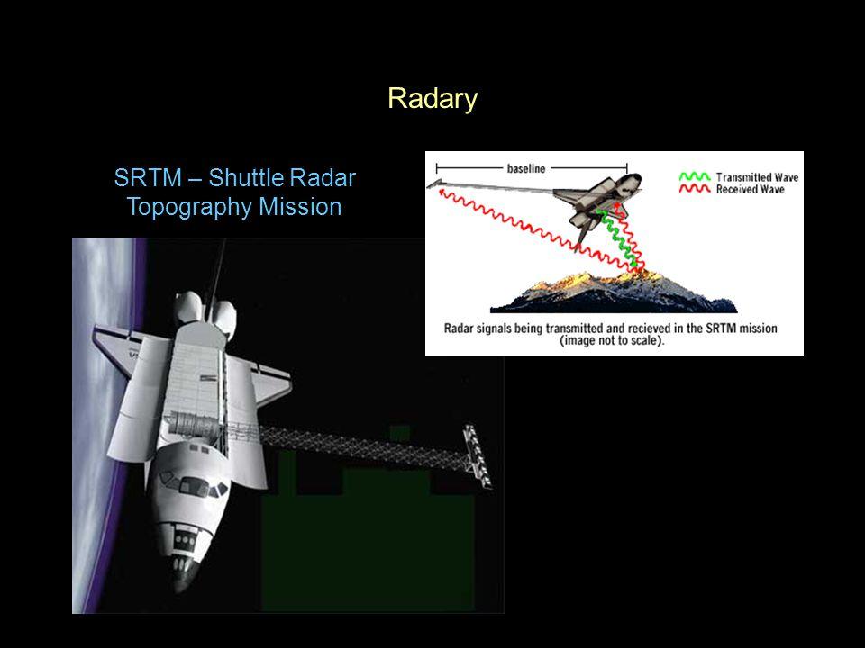 Radary SRTM – Shuttle Radar Topography Mission