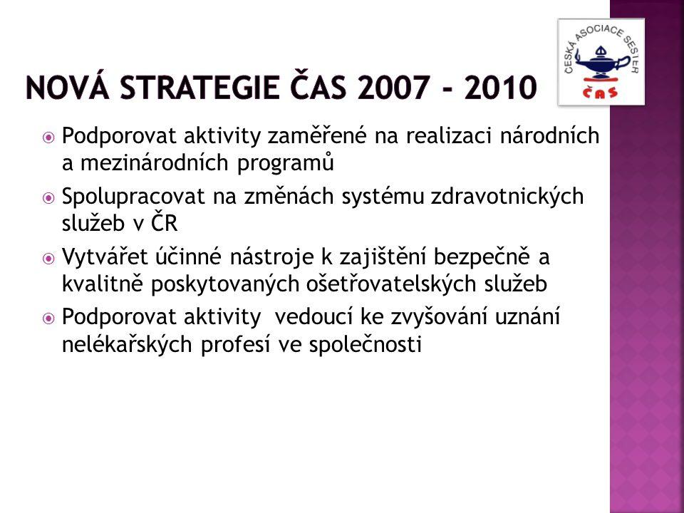  Podporovat aktivity zaměřené na realizaci národních a mezinárodních programů  Spolupracovat na změnách systému zdravotnických služeb v ČR  Vytváře