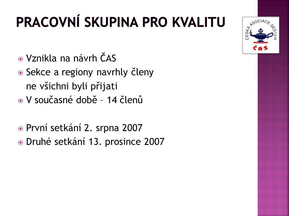  Vznikla na návrh ČAS  Sekce a regiony navrhly členy ne všichni byli přijati  V současné době – 14 členů  První setkání 2. srpna 2007  Druhé setk