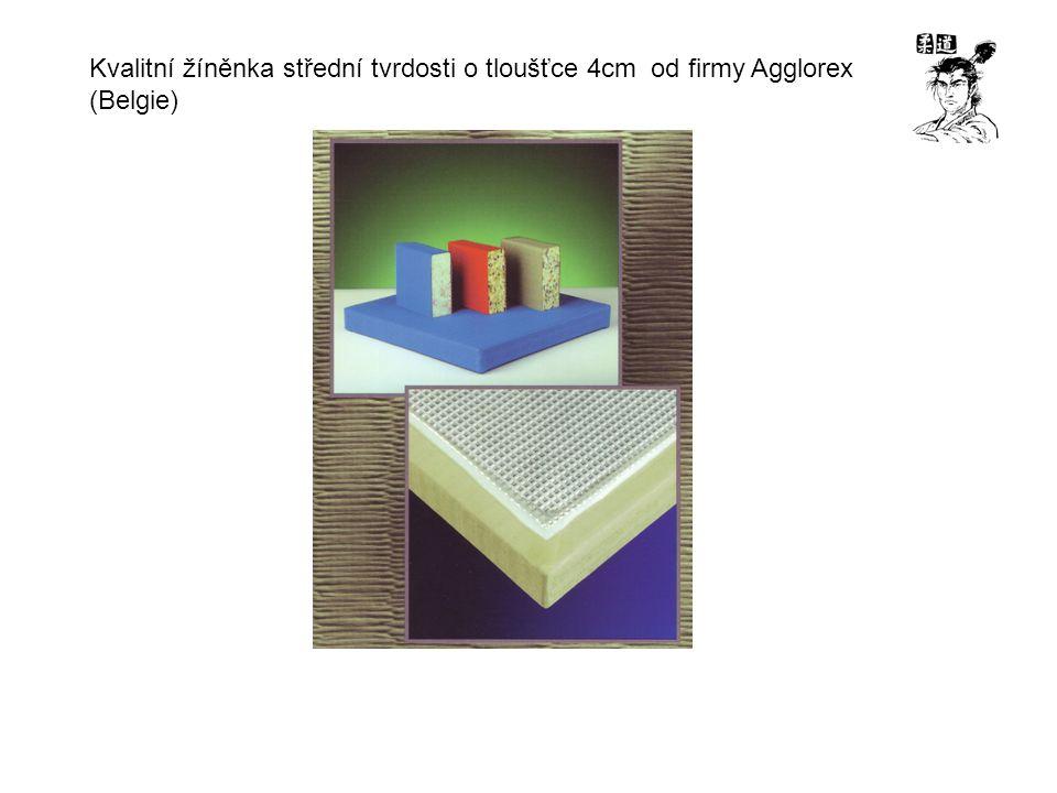 Kvalitní žíněnka střední tvrdosti o tloušťce 4cm od firmy Agglorex (Belgie)