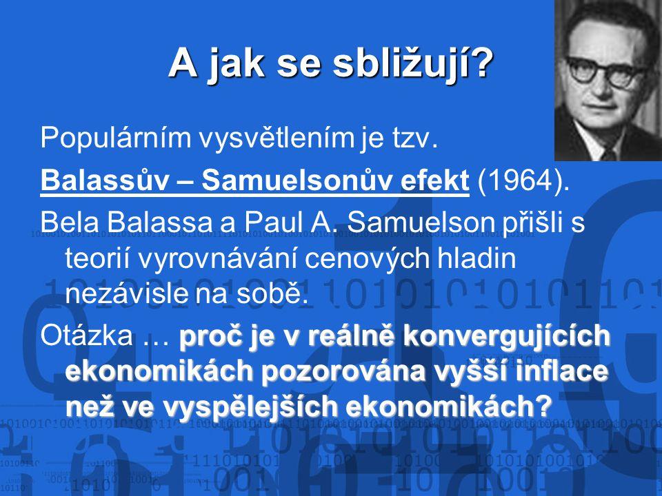 A jak se sbližují? Populárním vysvětlením je tzv. Balassův – Samuelsonův efekt (1964). Bela Balassa a Paul A. Samuelson přišli s teorií vyrovnávání ce