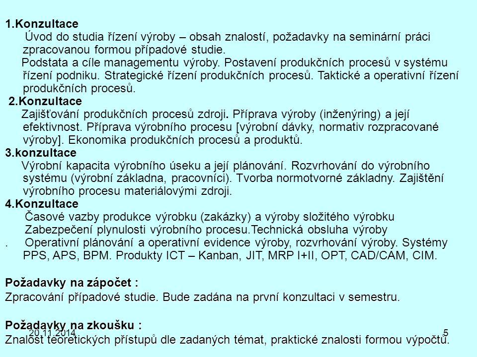 Literatura k předmětu: Řízení výroby 1.DRUCKER,P.F.