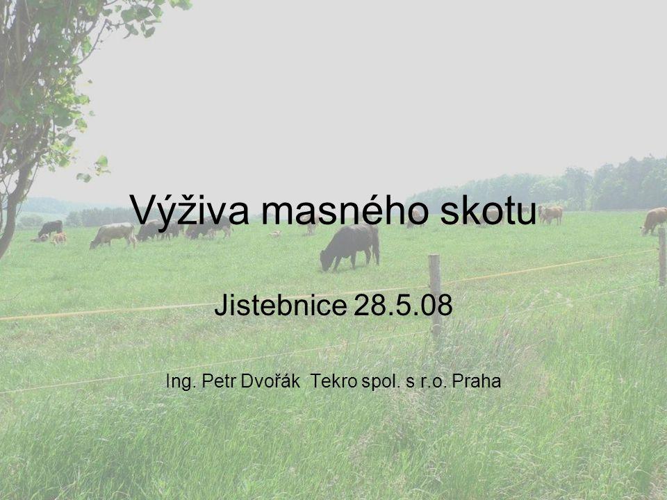 Výživa masného skotu Jistebnice 28.5.08 Ing. Petr Dvořák Tekro spol. s r.o. Praha