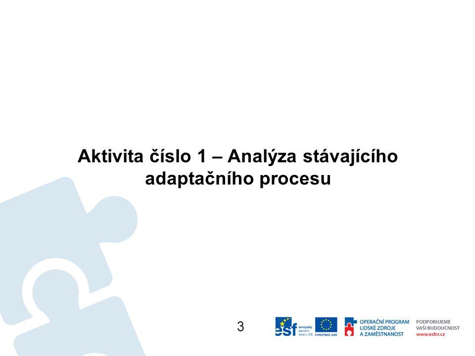 Aktivita číslo 1 – Analýza stávajícího adaptačního procesu 3