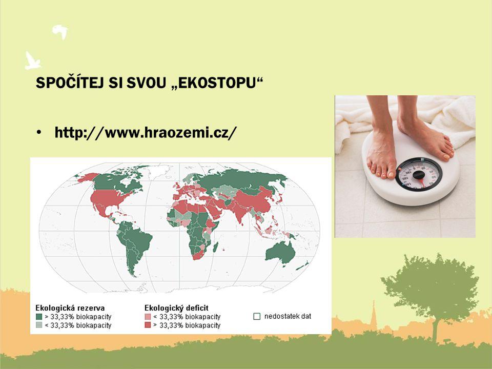 """SPOČÍTEJ SI SVOU """"EKOSTOPU http://www.hraozemi.cz/"""
