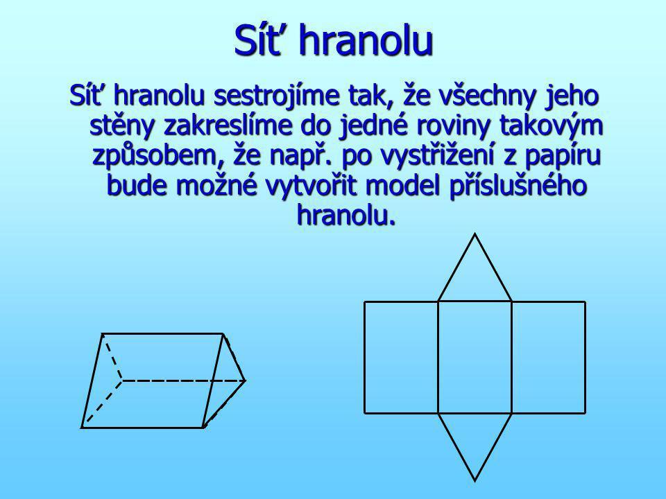 Kolmé hranoly a jejich vlastnosti horní podstava dolní podstava Kolmé hranoly mají dvě rovnoběžné podstavy tvaru mnohoúhelníku
