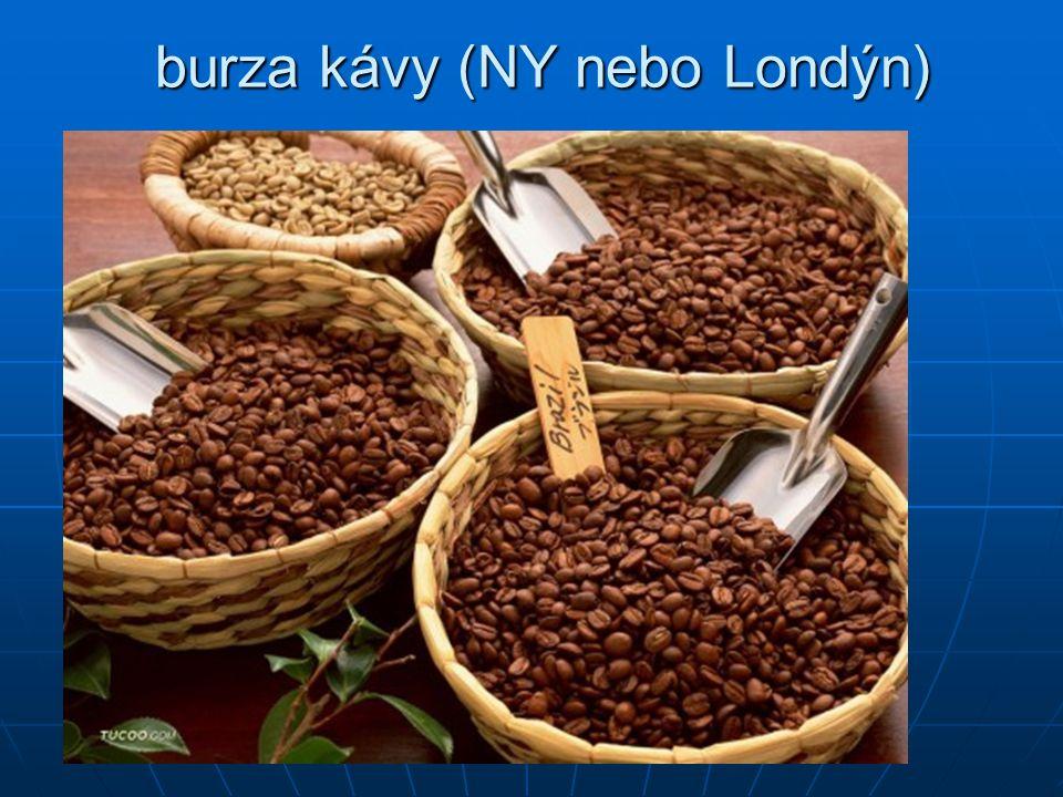 burza kávy (NY nebo Londýn) burza kávy (NY nebo Londýn)