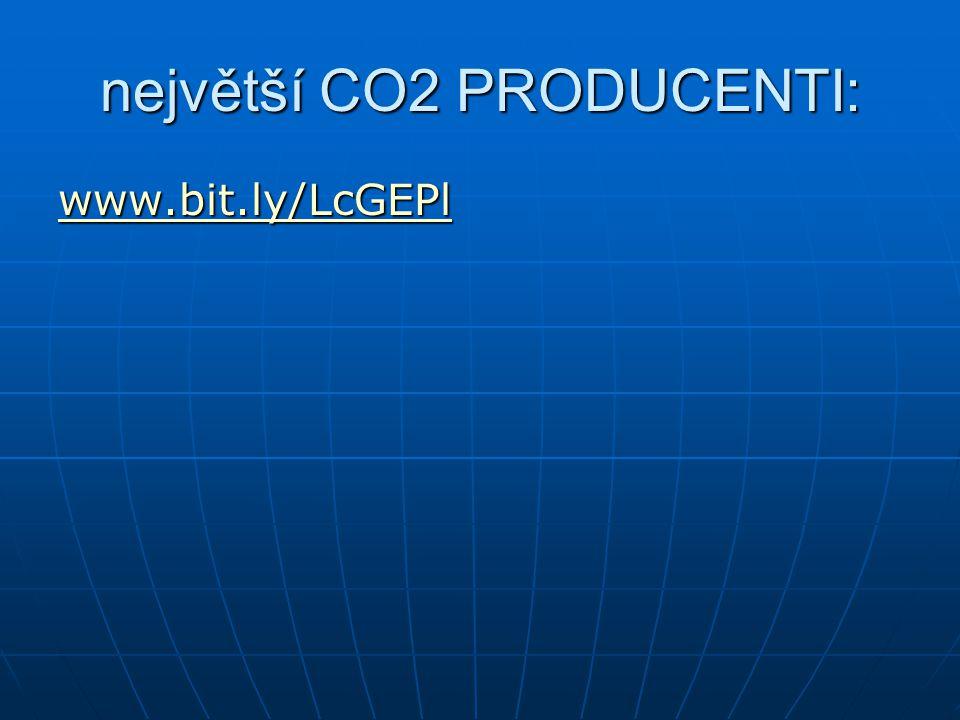 největší CO2 PRODUCENTI: www.bit.ly/LcGEPl