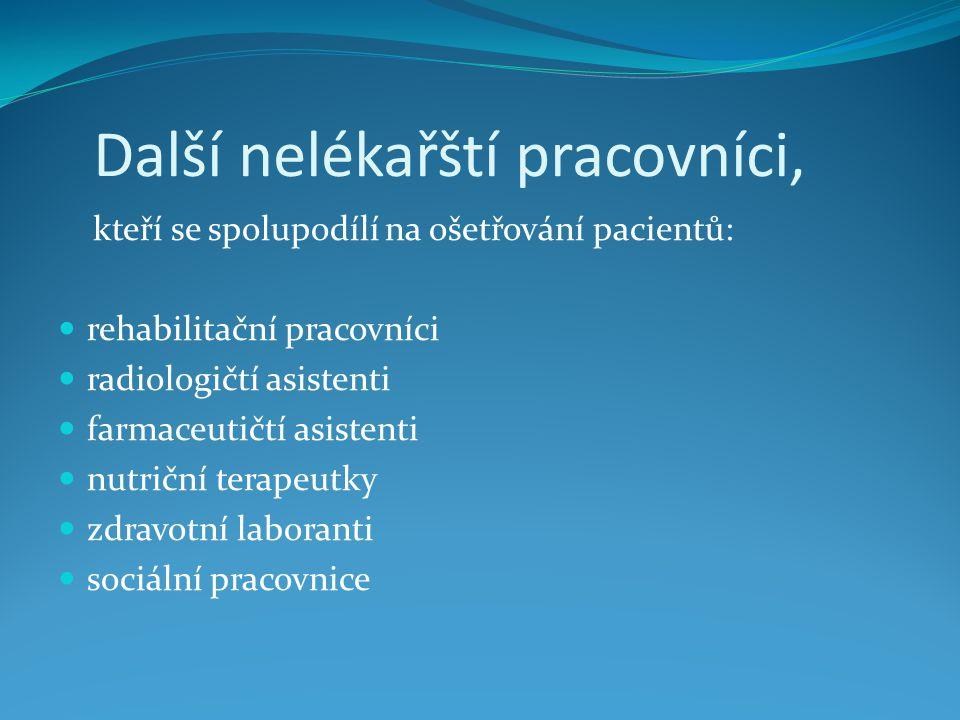 Ošetřovatelské diagnózy na OCHO Zvracení Průjem Zácpa Chronická bolest...