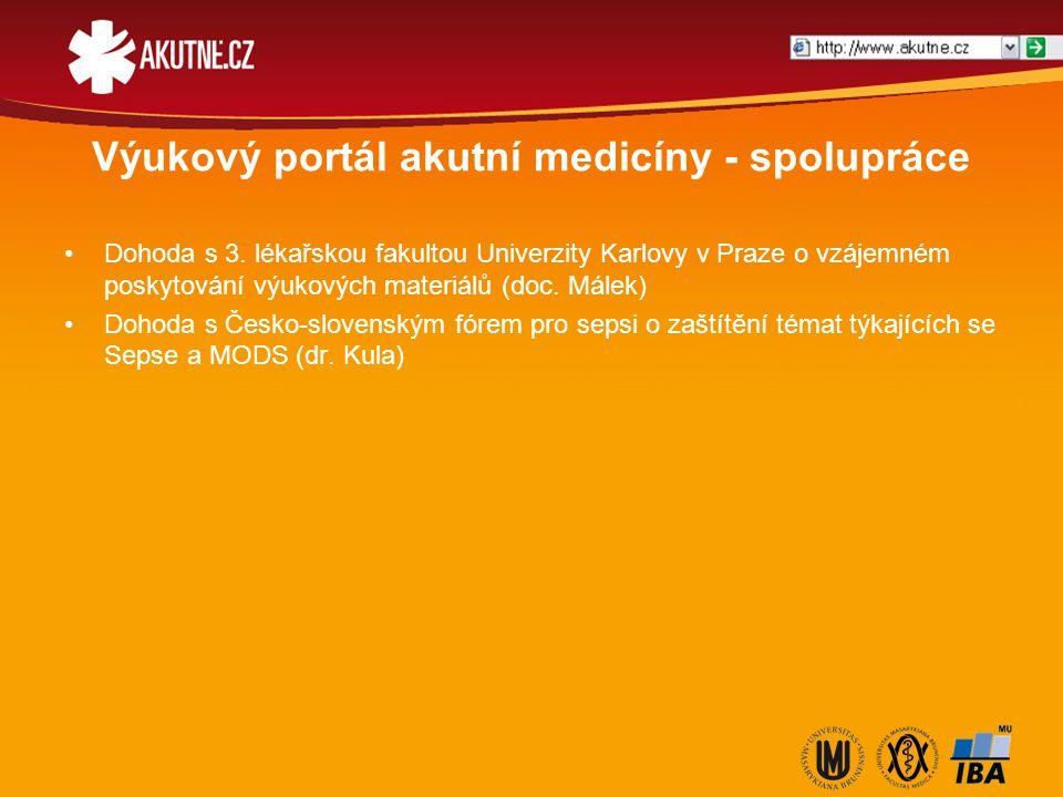 Výukový portál akutní medicíny - spolupráce Dohoda s 3. lékařskou fakultou Univerzity Karlovy v Praze o vzájemném poskytování výukových materiálů (doc