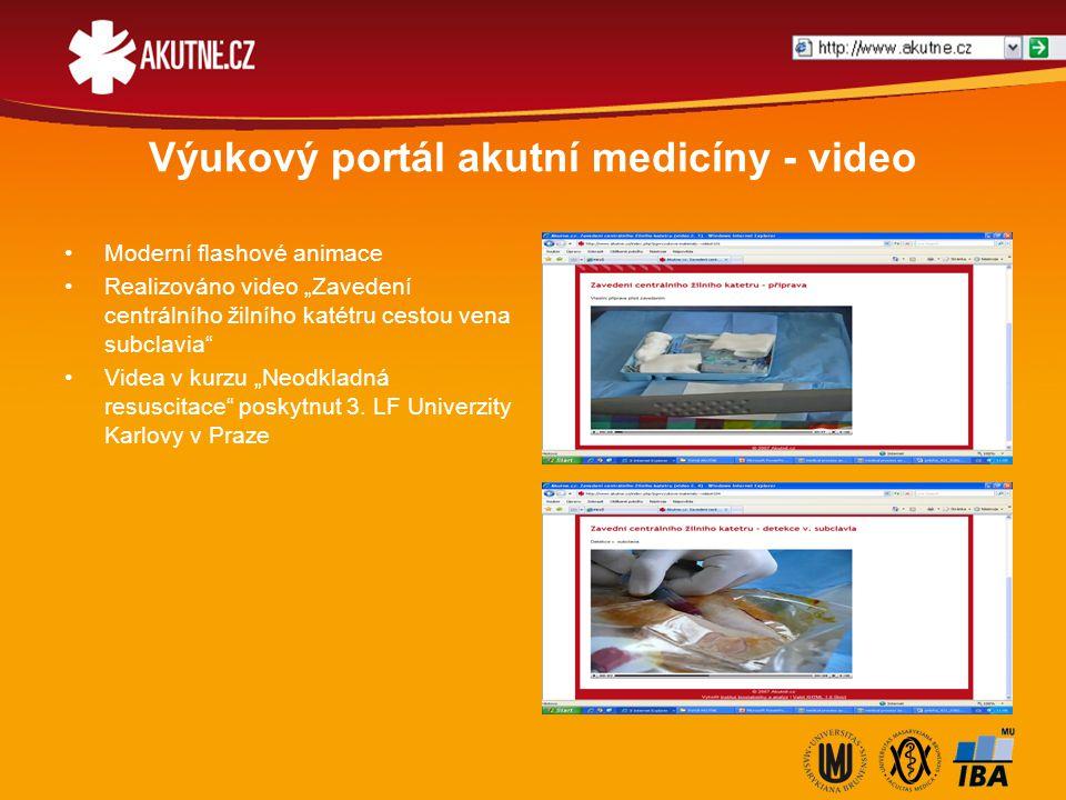 """Výukový portál akutní medicíny - video Moderní flashové animace Realizováno video """"Zavedení centrálního žilního katétru cestou vena subclavia"""" Videa v"""