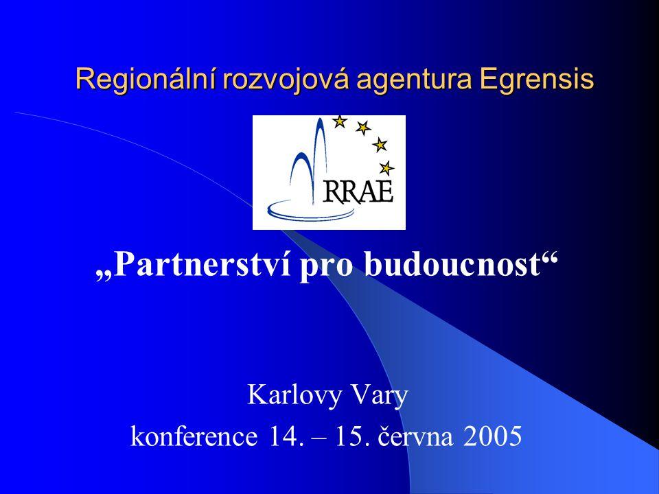 """Regionální rozvojová agentura Egrensis """"Partnerství pro budoucnost Karlovy Vary konference 14."""