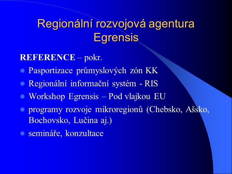 Regionální rozvojová agentura Egrensis ÚLOHA V PROJEKTU Navázat a prohloubit stávající kontakty Vybudovat nová partnerství Postupovat po horizontální i vertikální úrovni Využít zkušeností z předchozích činností Princip partnerství vychází ze stanov RRAE