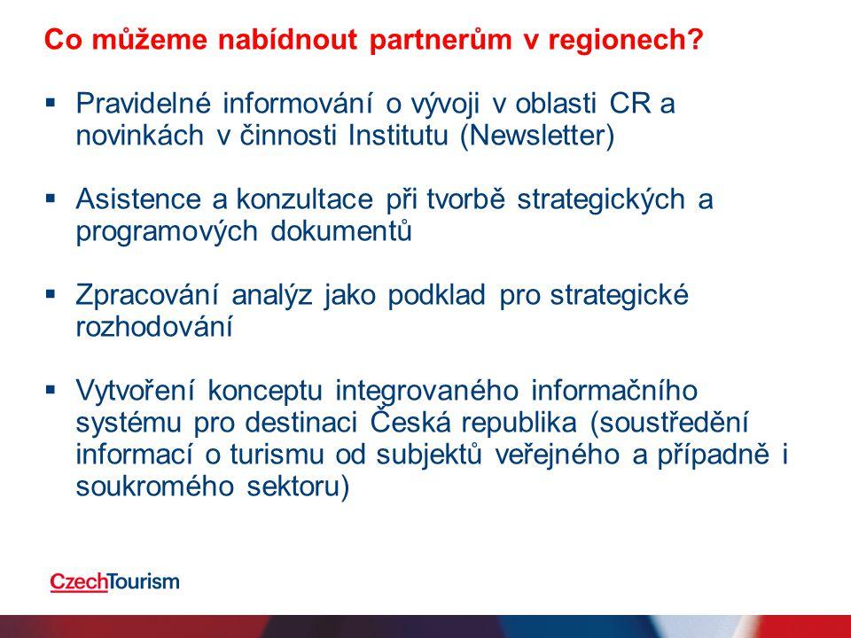 Co můžeme nabídnout partnerům v regionech.