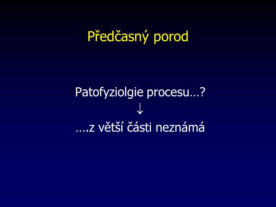Předčasný porod Patofyziolgie procesu…?  ….z větší části neznámá