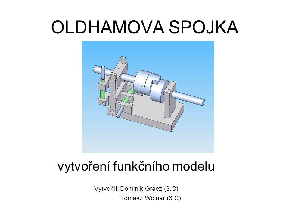 OLDHAMOVA SPOJKA vytvoření funkčního modelu Vytvořili: Dominik Grácz (3.C) Tomasz Wojnar (3.C)
