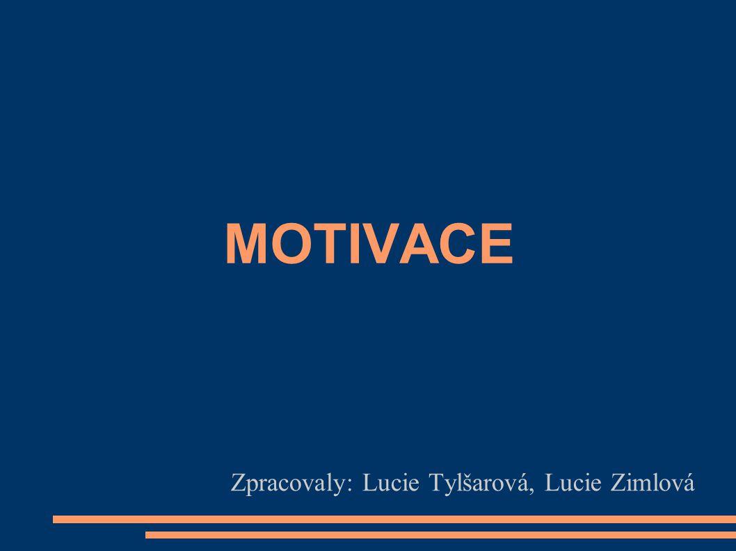 MOTIVACE Zpracovaly: Lucie Tylšarová, Lucie Zimlová